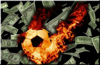 Soccer ball and money